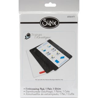 Sizzix Texture Boutique Embossing Pads1 Pair W/Mylar Shim