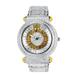 Adee Kaye Mid Size Round and Baguette Timepiece