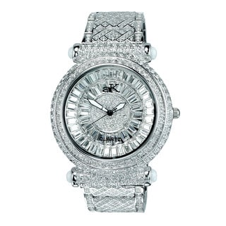 Adee Kaye Mid Size Round and Baguette Crystal Timepiece