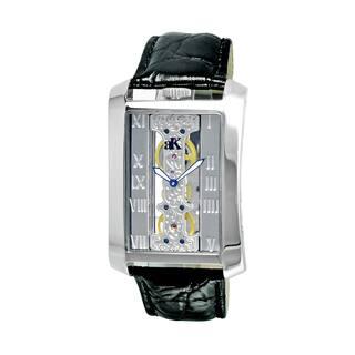 Adee Kaye Men's Rectangular Glass-Skeletal Design Timepiece|https://ak1.ostkcdn.com/images/products/10563024/P17640952.jpg?impolicy=medium