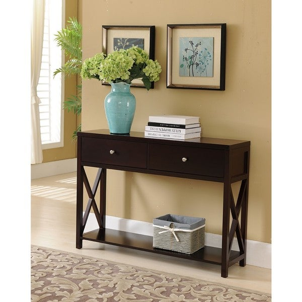 K And B Console Table Dark Cherry Free Shipping Today