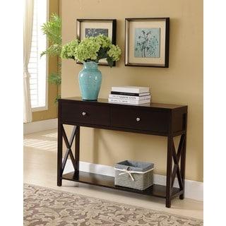 Copper Grove Foxtail Dark Cherry Console Table