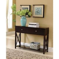 Clay Alder Home Meems Console Table, Dark Cherry