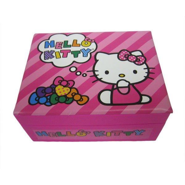 8ed3bef6b Shop Hello Kitty Small Pink Jewelry Box - Free Shipping On Orders Over $45  - Overstock - 10563099