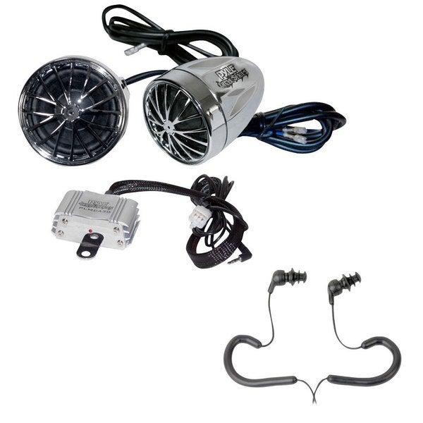 Pyle KTMRGS07 400-watt Dual Bullet Style Weatherproof Aux-in/ MP3 Speaker Kit for Motorcycle/ ATV/ Boat/ Snowmobile