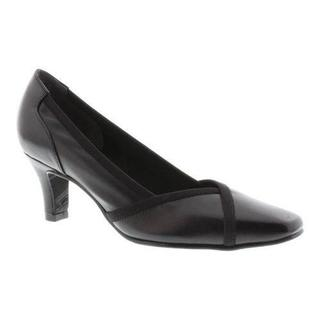 Women's Rose Petals by Walking Cradles Rayna Pump Black Nappa