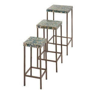 Glacier Mosaic Tables (Set of 3)