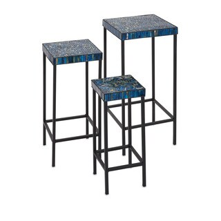 Peacock Mosaic Tables (Set of 3)
