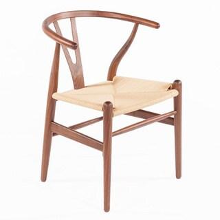 Hans Andersen Home Wishbone Chair Walnut Base/Natural Seat