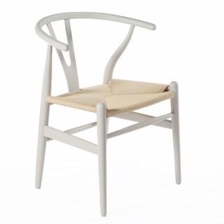 Mid Century Modern Pink Wood Y Wishbone Chair 14045525