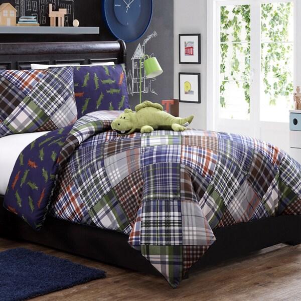 VCNY  Alligator Reversible 4-piece Comforter Set