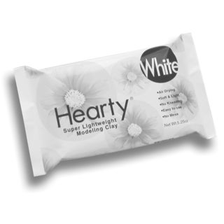 Hearty Super Lightweight AirDry Clay 5.25ozWhite