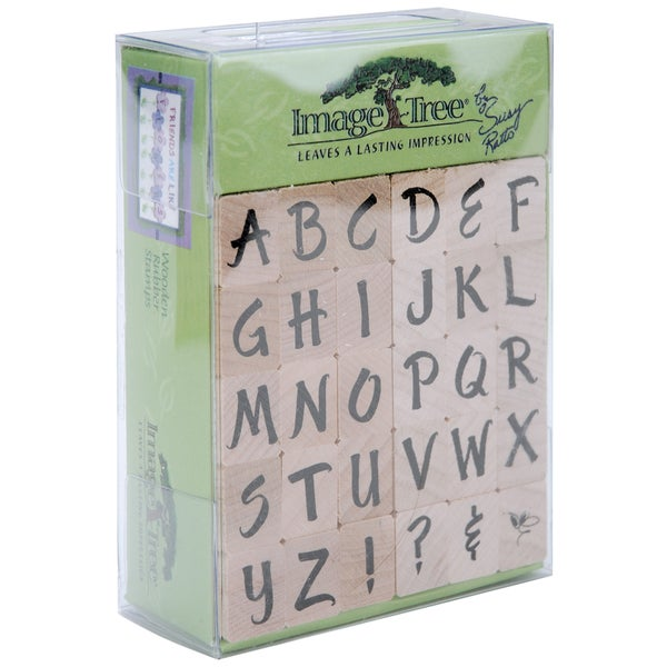 Image Tree Handle Rubber Stamp SetSusy Ratto Brush Letter Alphabet/Upper
