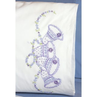 Stamped Perle Edge Pillowcases 30inX20in 2/PkgWedding Bells