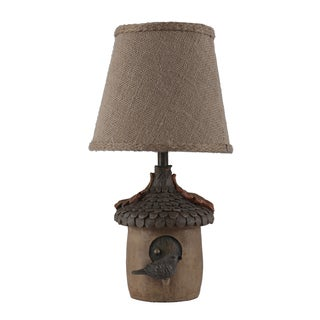 Somette Bird House Tan 12-inch Accent Lamp