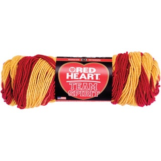Red Heart Team Spirit YarnBurgundy & Gold