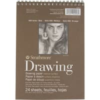 Strathmore Medium Drawing Spiral Paper Pad 6inX8in24 Sheets