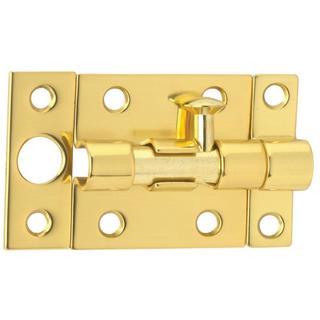 Schlage 1-1/2 inch x 2 inch Solid Brass Door Bolt