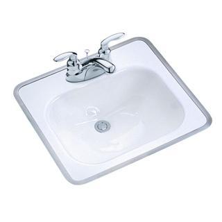 Kohler Tahoe Drop-In Bathroom Sink in White