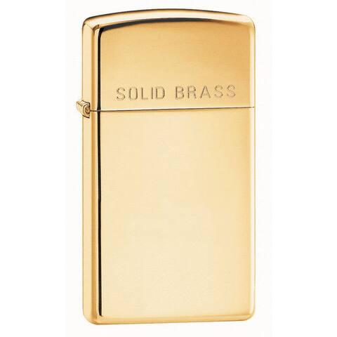 Zippo Slim Solid Brass Engraved Lighter