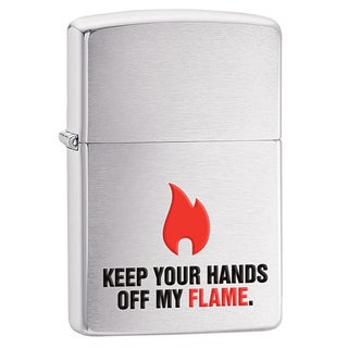 Zippo Keep Your Hands Off Brushed Chrome Windproof Lighter