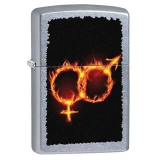 Zippo Male and Female Fire Street Chrome Lighter