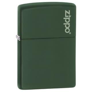Zippo Green Matte Lighter Zippo Logo