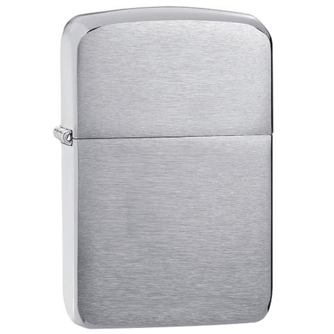 Zippo Silver Brushed Brass 1941 Replica Lighter