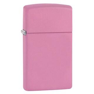 Zippo Pink Matte Slim Lighter