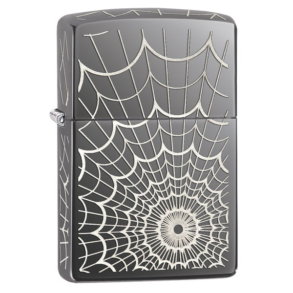 Zippo Black Ice Web All Over Windproof Lighter