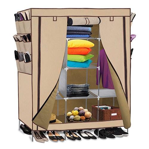 Portable wardrobe closet storage organizer