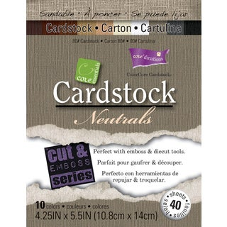 Core'dinations Core Essentials Cardstock 4.25inX5.5in 40/PkgNeutrals