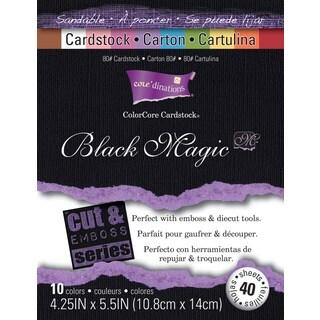Core'dinations Cut & Emboss Cardstock Pad 4.25inX5.5in 40/PkgBlack Magic