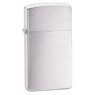 Zippo Slim Brushed Chrome Lighter