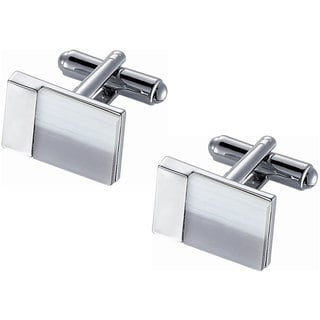 Stainless Steel Snow White and Ice Grey Catseye Cufflinks