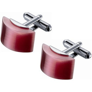 Rose Pink Catseye Cufflinks