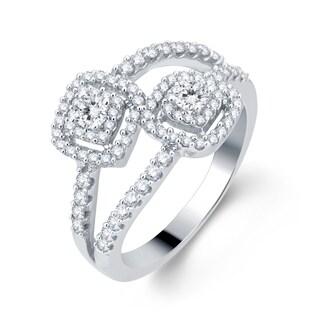 Divina 14k White Gold 3/4ct TDW Diamond Bridal Ring (H-I,I1-I2)