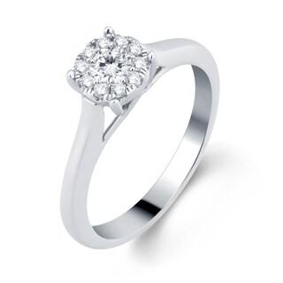 Divina 14k White Gold 1/3ct TDW Diamond Engagement Ring (H-I, I1-I2)