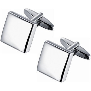Stainless Steel Classic Square Polished Cufflinks