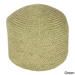 Jute Solid-Colored 22-inch Pouf (3 options available)