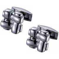 Men's Stainless Steel Knotted Titanium Cufflinks