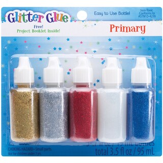 Glitter Glue .7oz 5/PkgPrimary