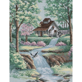 Peaceful Stream Counted Cross Stitch Kit11inX14in 16 Count