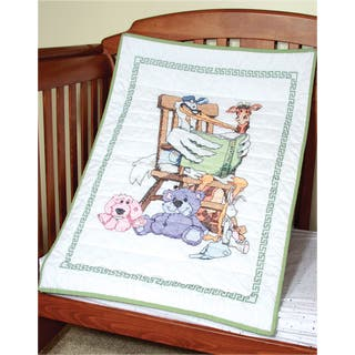 Stamped Baby Quilt Top 36inX50inStork|https://ak1.ostkcdn.com/images/products/10564937/P17642675.jpg?impolicy=medium