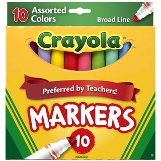 Crayola Broad Line MarkersAssorted Colors 10/Pkg