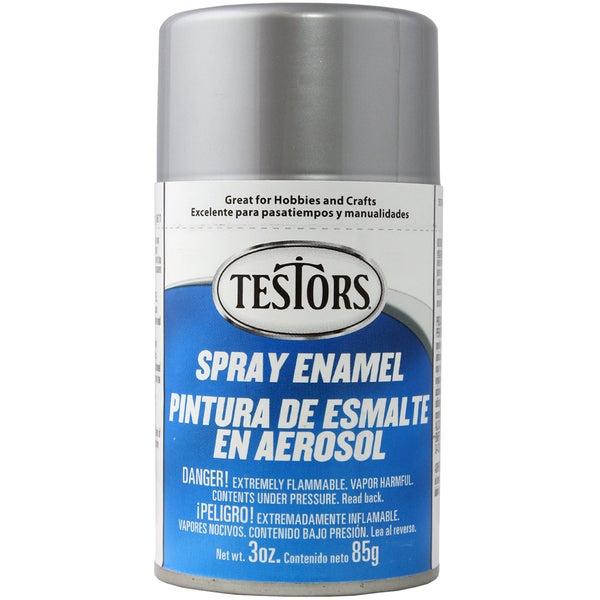 Testors Spray Enamel 3ozMetallic Silver