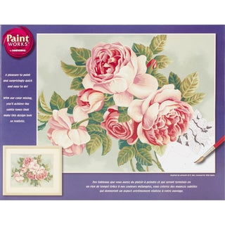 Paint Works Paint By Number Kit 14inX11inHeirloom Roses