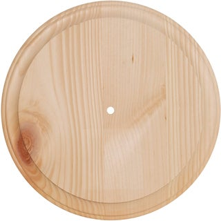 Pine Wood Clock Face11in Round Use 700P & 800P Movements