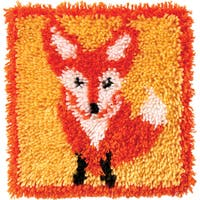 Wonderart Latch Hook Kit 12inX12inLittle Fox