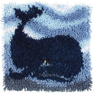 Wonderart Latch Hook Kit 12inX12inBig Blue Whale